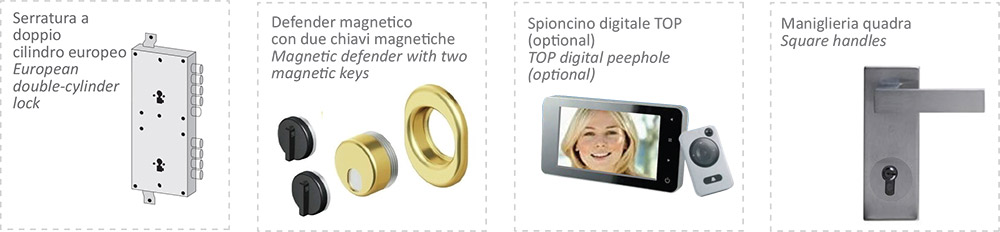 alcuni supplementi porte blindate gold 1 anta